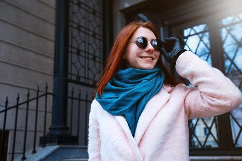 un foulard en soie de Lyon made in France